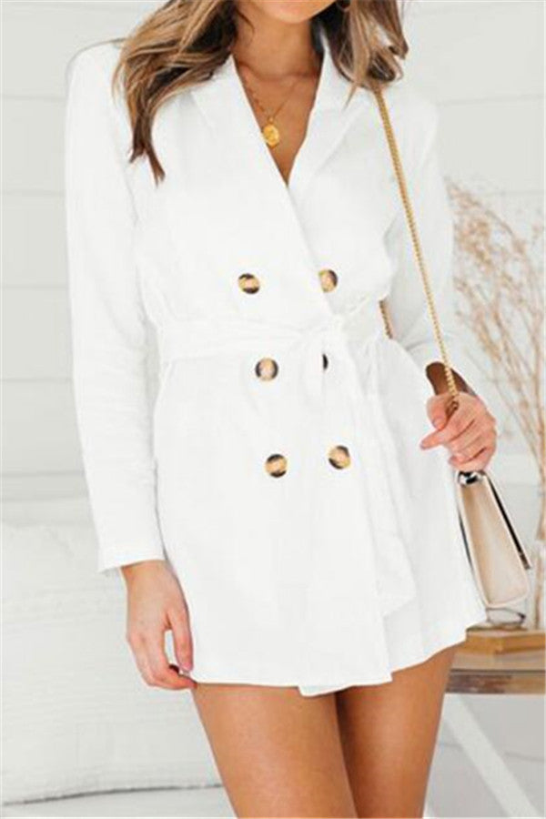 Chicnico Sexy White Trench Coat