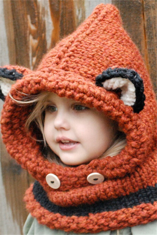 Chicnico Cute Children Fox Knit Hat