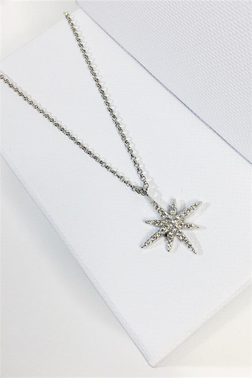 Chicnico Fashion Silver Layered Star Necklace