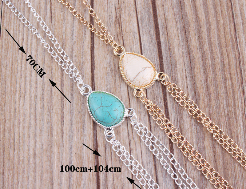 Chicnico Boho chic Body jewelry Bella Gold Moonstone Bodychain