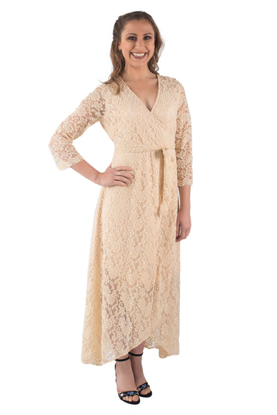DAISY LACE WRAP DRESS