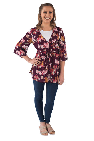 ROSE BREASTFEEDING WRAP TOP - CLEARANCE