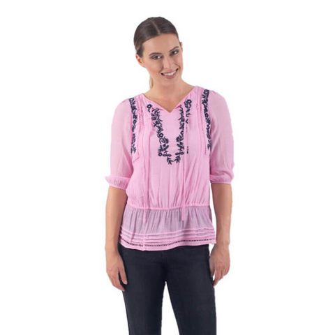 LOREN BREASTFEEDING TOP - PINK