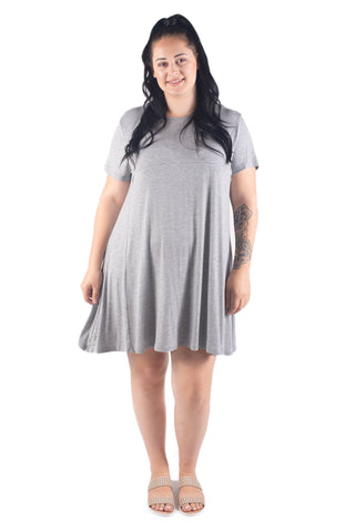 EMMA SHORT SLEEVE BREASTFEEDING DRESS - GREY