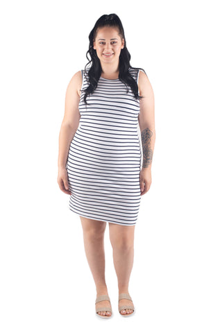 ANNA BREASTFEEDING MIDI DRESS - WHITE
