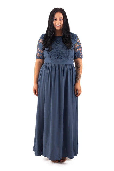 ESME BREASTFEEDING DRESS - BLUE