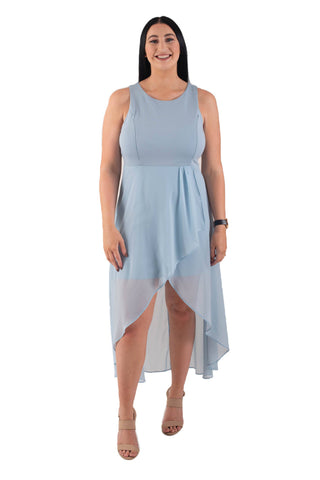 MADELEINE BREASTFEEDING DRESS - BLUE