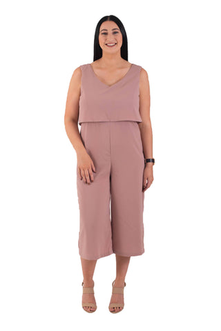 JORDAN BREASTFEEDING JUMPSUIT - BLUSH