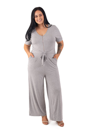 GRACE BREASTFEEDING JUMPSUIT - GREY