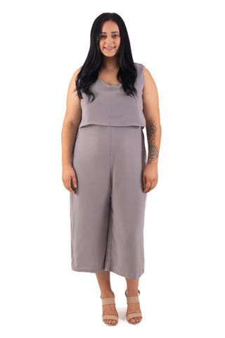 JORDAN BREASTFEEDING JUMPSUIT - GREY