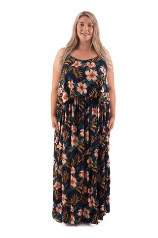 BIANCA BREASTFEEDING MAXI - NAVY