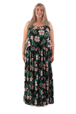 BIANCA BREASTFEEDING MAXI - BLACK