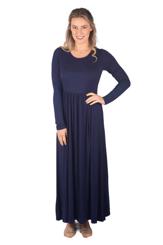 RILEY BREASTFEEDING MAXI LONG SLEEVE - NAVY