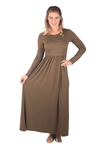 RILEY BREASTFEEDING MAXI LONG SLEEVE - KHAKI