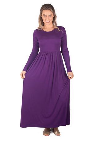 RILEY BREASTFEEDING MAXI LONG SLEEVE - PURPLE