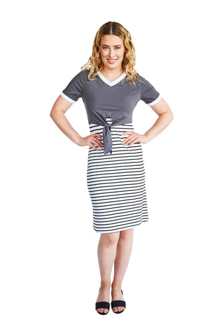 EMILY BREASTFEEDING DRESS - GREY