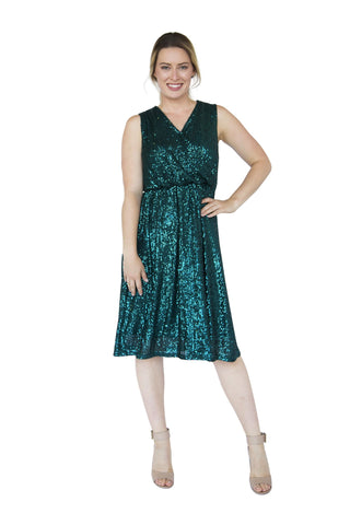 RACHELLE BREASTFEEDING DRESS- EMERALD