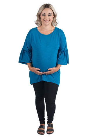 EVA MATERNITY TOP TURQUOISE - CLEARANCE