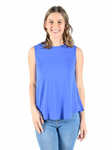SARAH BREASTFEEDING TANK ROYAL BLUE - CLEARANCE