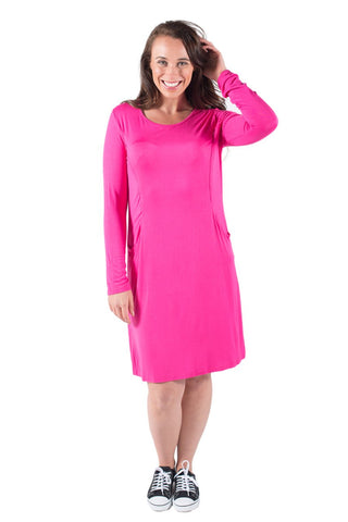 ABBY BREASTFEEDING DRESS LONG SLEEVE