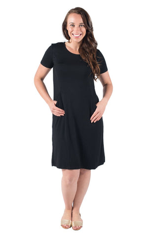 ABBY BREASTFEEDING DRESS SHORT SLEEVE - CLEARANCE