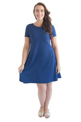 EMMA SHORT SLEEVE BREASTFEEDING DRESS - FIRST DROP - CLEARANCE
