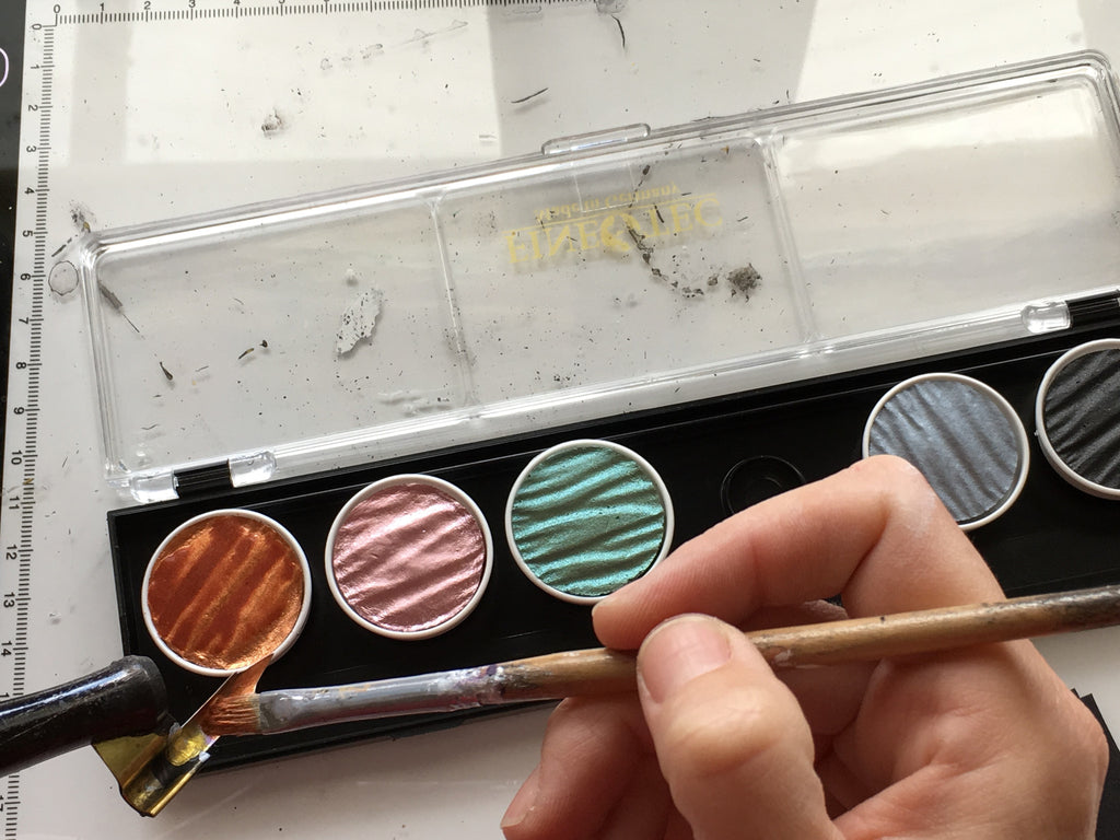 How to use Finetec Colour Pans for Calligraphy