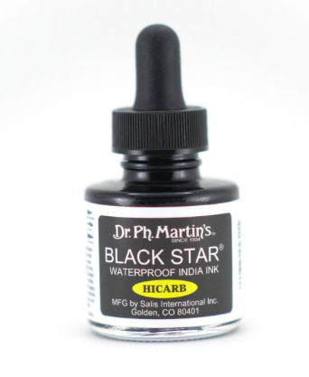 Dr. Ph. Martin's Black Star Hi-Carb India Ink