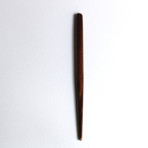 Straight Pen Holder in Nut Brown