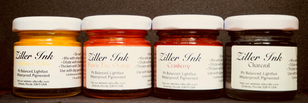5. Seventh Day of Christmas - A Set of Four Ziller Inks