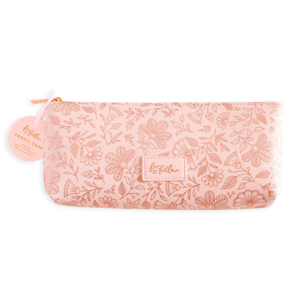 Fox & Fallow Rose Quartz Vegan Leather Pencil Case