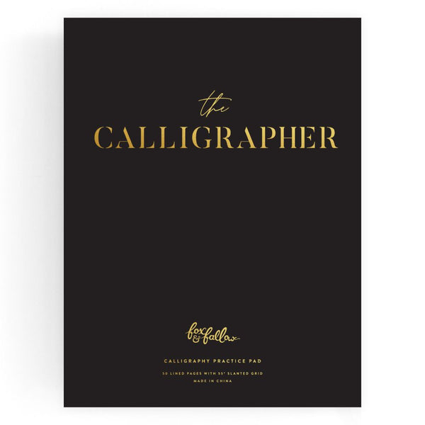 The Calligrapher Practice Pad - Black Paper