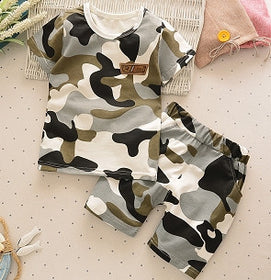 Boys Summer Camo T-Shirt + Shorts
