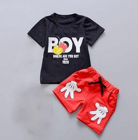 Boy Unisex Summer Outfit Set