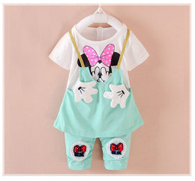 Minnie Mouse  T-shirt+Shorts Set