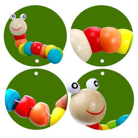 Toys - Flexible Wooden Twisting Worm Toy