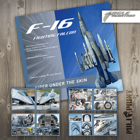"F-16 VIPER ""UNDER THE SKIN"" - Book - miliprint"