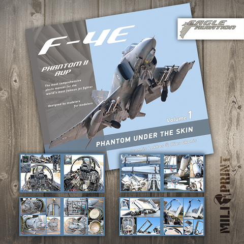 "F-4E PHANTOM ""UNDER THE SKIN"" Vol.1 - Book - miliprint"