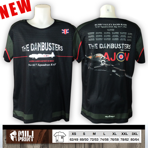 "PRE-ORDER Avro Lancaster ""the dambusters""  T-SHIRT - miliprint"