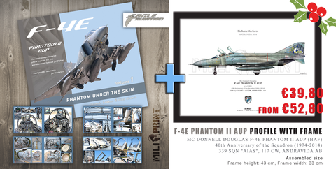 "F-4E PHANTOM ""UNDER THE SKIN"" Vol.1 - Book +PROFILE WITH FRAME - miliprint"