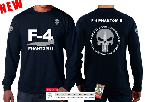 01 PUNISHER F-4 PHANTOM II SLEEVE T-SHIRT