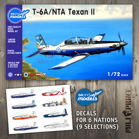 a. GRAND MODELS T-6A/NTA Texan II 1/72 - miliprint