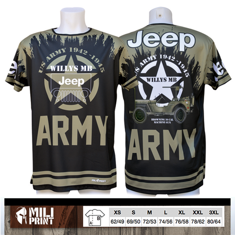 WILLYS MB JEEP (US ARMY) T-SHIRT - miliprint