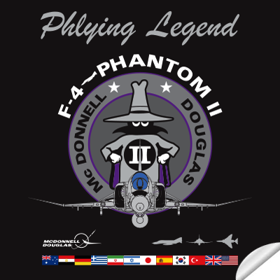 sticker F-4 PHANTOM II