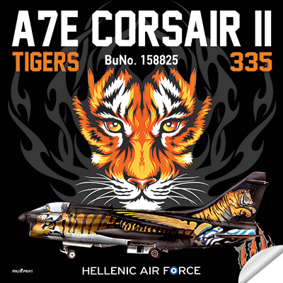 "336 SQN ""TIGER"" A7E CORSAIR STICKER - miliprint"