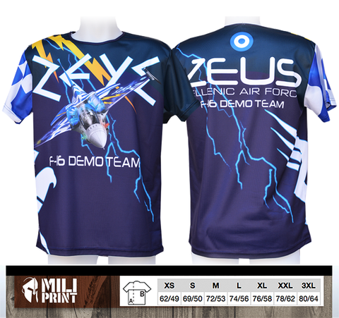 1. ZEUS F-16 DEMO TEAM (HAF)  T-SHIRT - miliprint