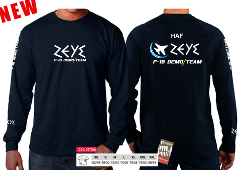 """ZEUS"" F-16 DEMO TEAM SLEEVE T-SHIRT"