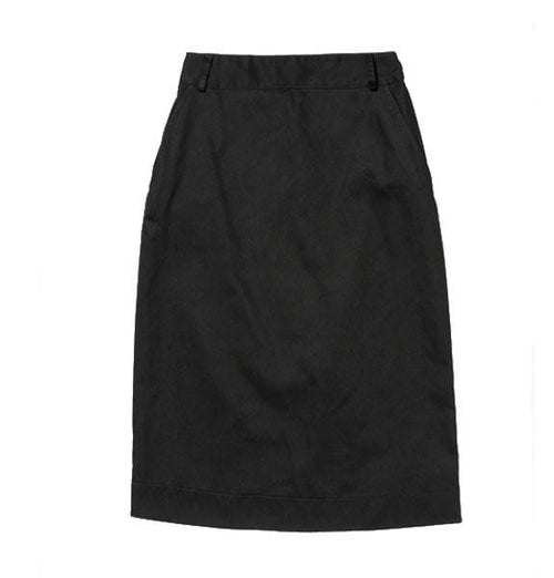 Pencil Skirt - Black Cotton Drill