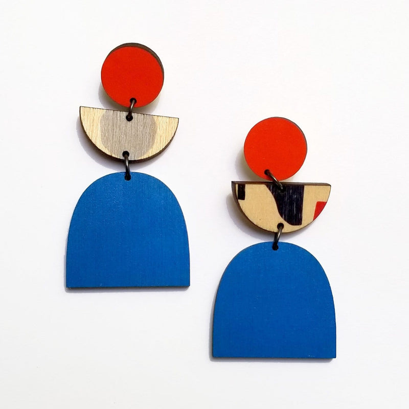 Scoops handmade ply earrings made in Australia Sydney Ethical Fashion Dragstar