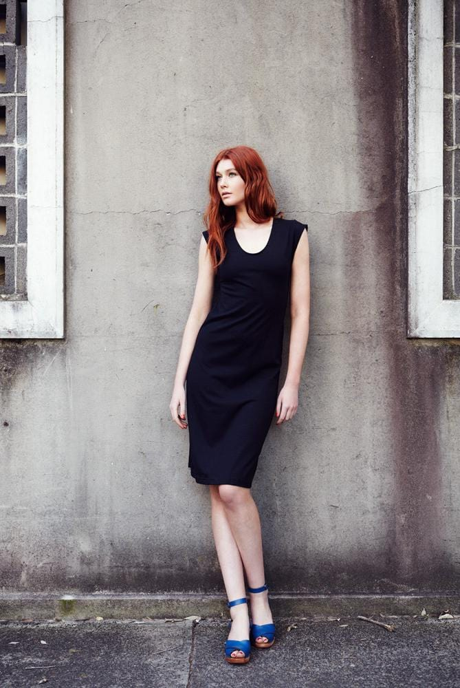 all too easy cotton jersey black dress made in sydney australia Dragstar